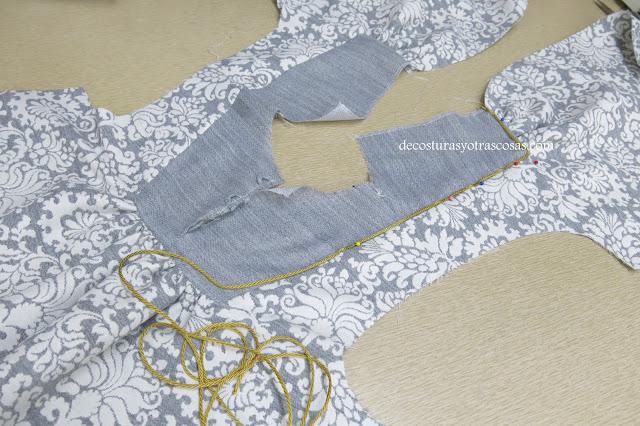 como coser cordón de lures o lamé