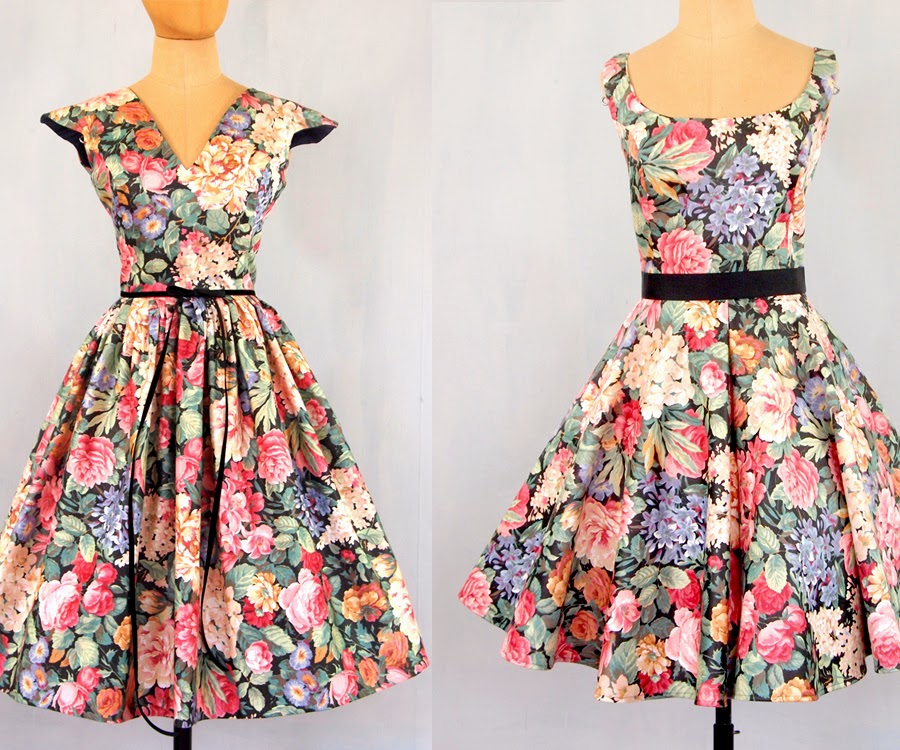 c92df9f6408 Alexandra King - Vintage Inspired Clothing.   Suburban Foral Dresses