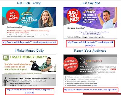 Cara Mengetahui URL Refferrals Ad Click Xpress