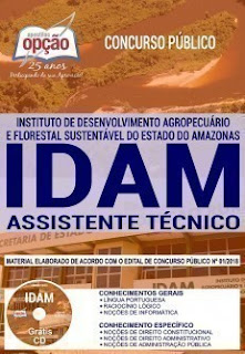 Baixar Apostila Concurso IDAM 2019 PDF - Assistente Técnico