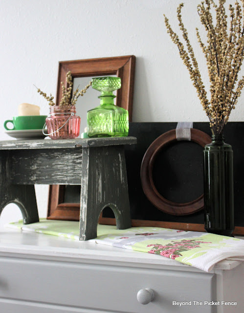 Thrift Store Finds Become Charming Farmhouse Vignette