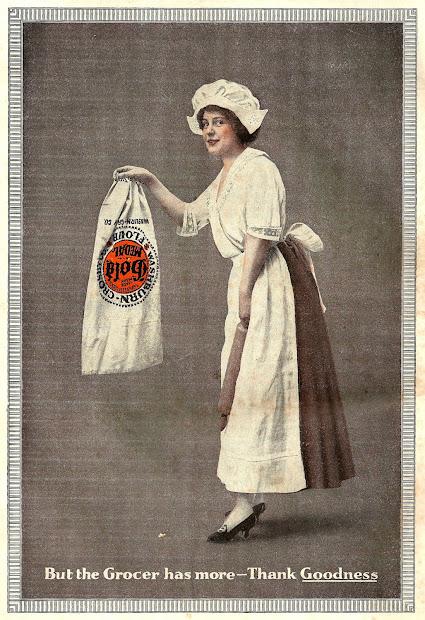 Antique Free Vintage Advertisement Clip Art 1920 Gold Medal Flour Ad With Woman Baker
