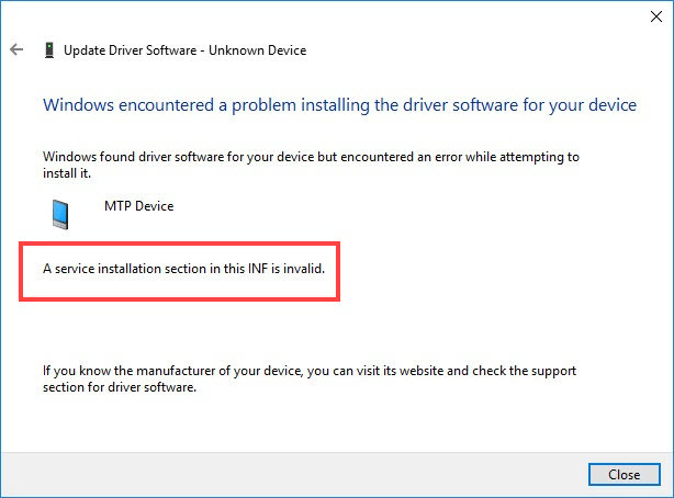 Fixed Windows Encountered A Problem Installing The Driver Software For Your Device