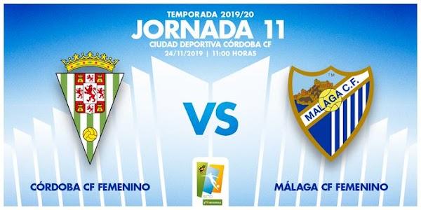 El Córdoba Femenino - Málaga Femenino, el domingo 24 de Noviembre a las 11:00 horas