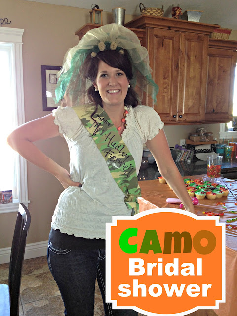 camo bridal shower  A girl and a glue gun