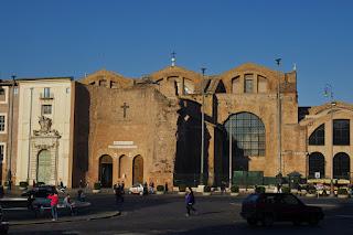 The Basilica of Santa Maria degli Angeli e dei Martiri off Rome's Piazza della Repubblica