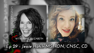 Podcast photo of nutrition expert Anne Elizabeth and Jessie Hatch