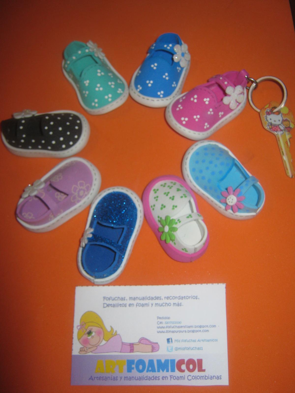 Mis fofuchas artfoamicol moldes patrones dise os zapatos - Pinturas para goma eva ...