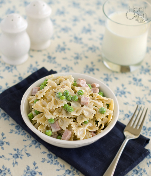Creamy Pasta With Peas And Ham Heat Oven To 350