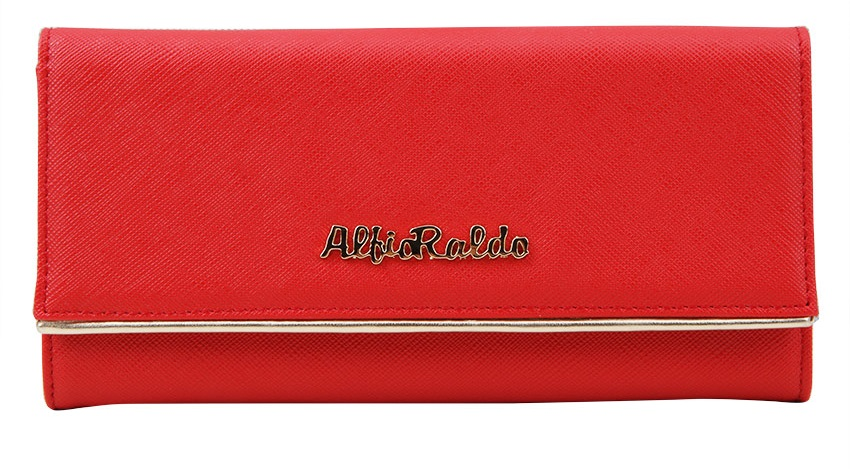 shopping online di Lazada, Lazada gedung pilihan, Alfio Raldo Young Flap Over Long Purse Red