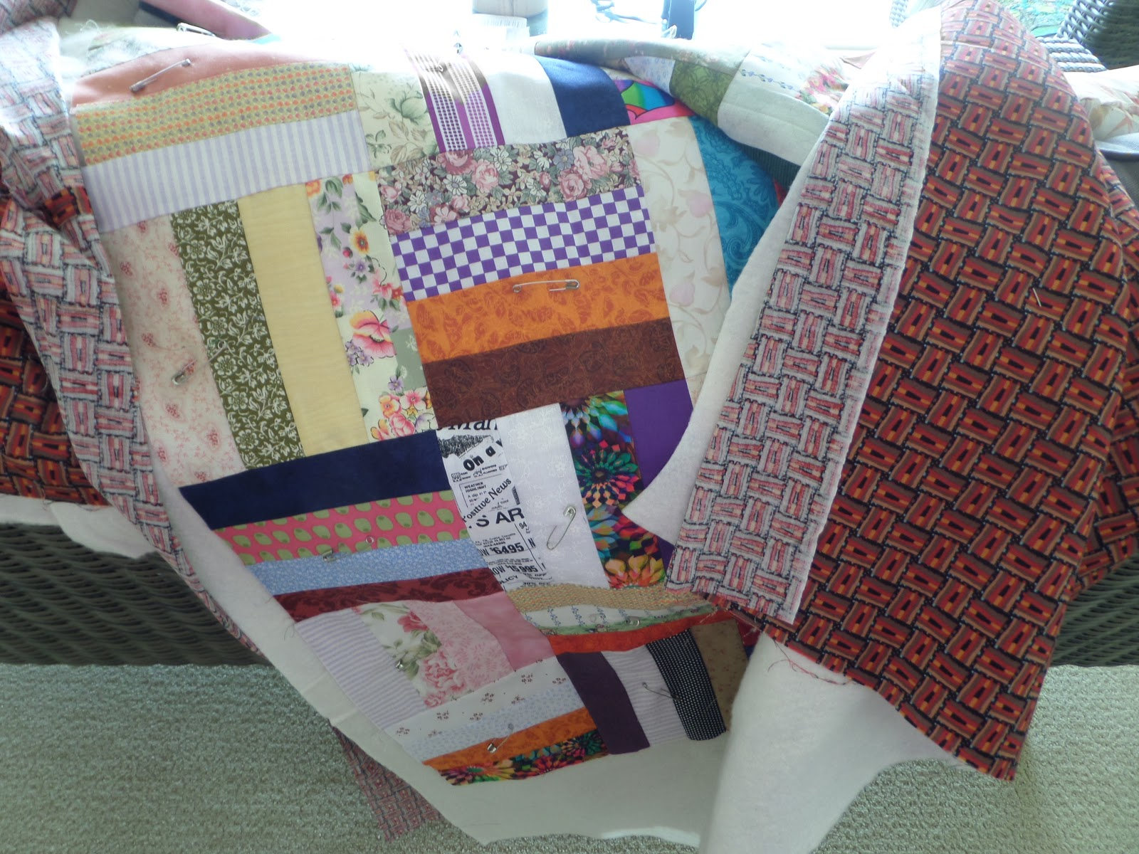 Kiwikids page: Sandwich time : putting a quilt sandwich together - Adamdwight.com