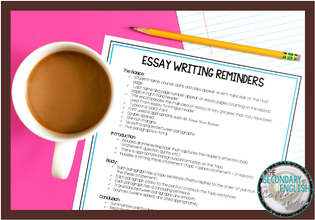 Essay Writing Checklist FREEBIE