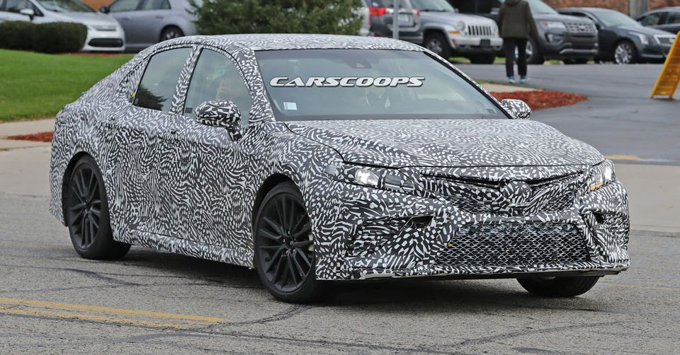 spied is toyota cooking a 2018 camry trd performance model. Black Bedroom Furniture Sets. Home Design Ideas