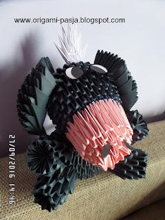 osiołek, kłapouchy, origami, 3d, modułowe, segmentowe, disney, bajka, postać z bajki,