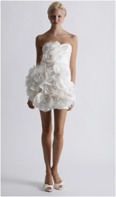 vestido de noiva branco curto