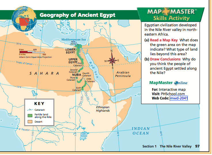 Social Studies With Mr McGinty Ancient Egypt The Nile River Valley - Map of ancient egypt first cataract