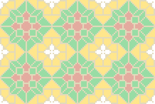 Free Belgian Tile Cross Stitch Design