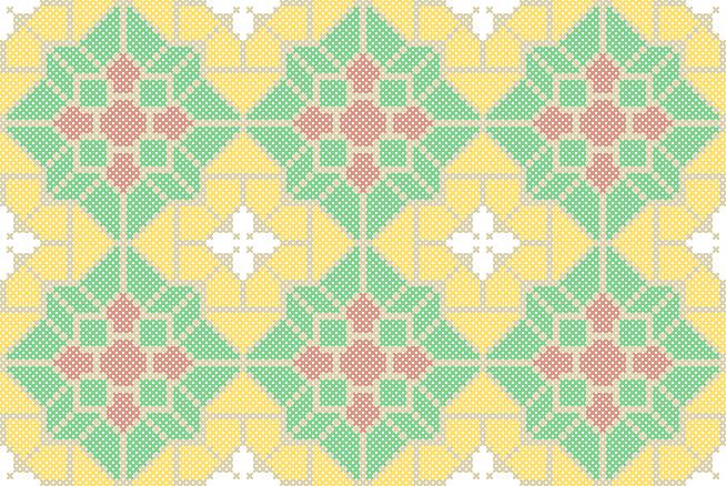 Free Belgian Tile Cross Stitch Design