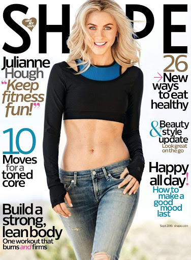 Julianne Hough sexy abs model photo shoot for Shape magazine
