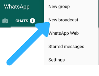 How to send Whatsapp message to all friends in single click - Whatsapp tricks