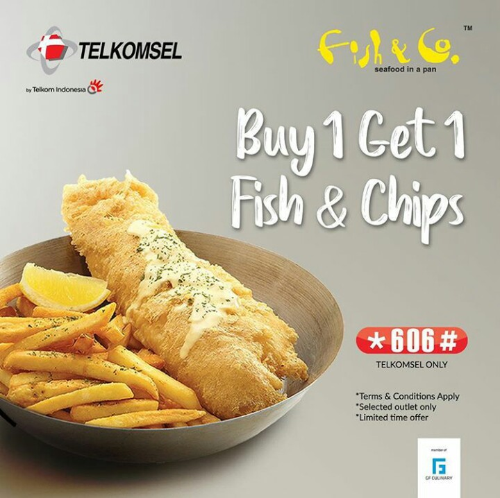 Promo Beli 1 Gratis 1 Fish & Co Untuk Pengguna Telkomsel