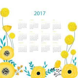 2017カレンダー無料テンプレート187