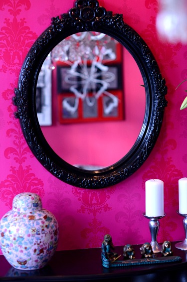 Pink Baroque mantle piece