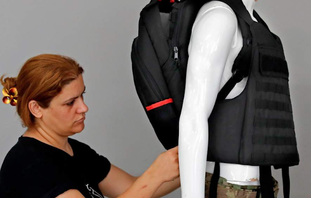 Military hardware company swamped with orders for bulletproof schoolbags as US school term starts