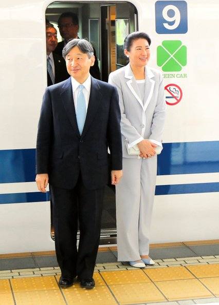 Emperor Naruhito and Empress Masako attend the 70th annual tree-planting festival held in the city of Owariasahi in Aichi