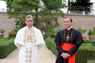 Jude Law and Sebastian Roche in The Young Pope (2)