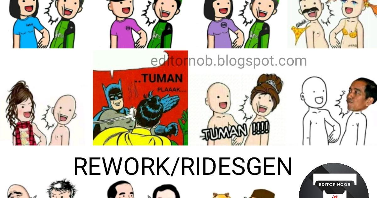 Download Mentahan Meme Tuman Rework beda dari aslinya  Editor Noob
