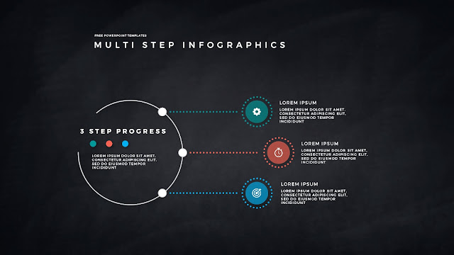 34 Step Circular Progress Infographics for PowerPoint Templates in Dark Background