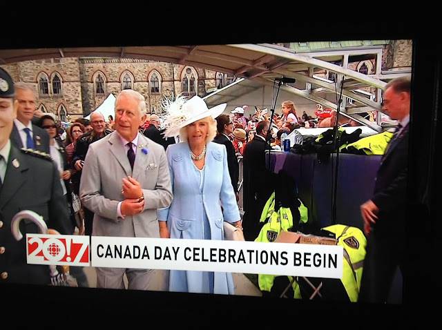 Screenshot CBC coverage Canada 150, Ottawa - Prince Charles and Camilla