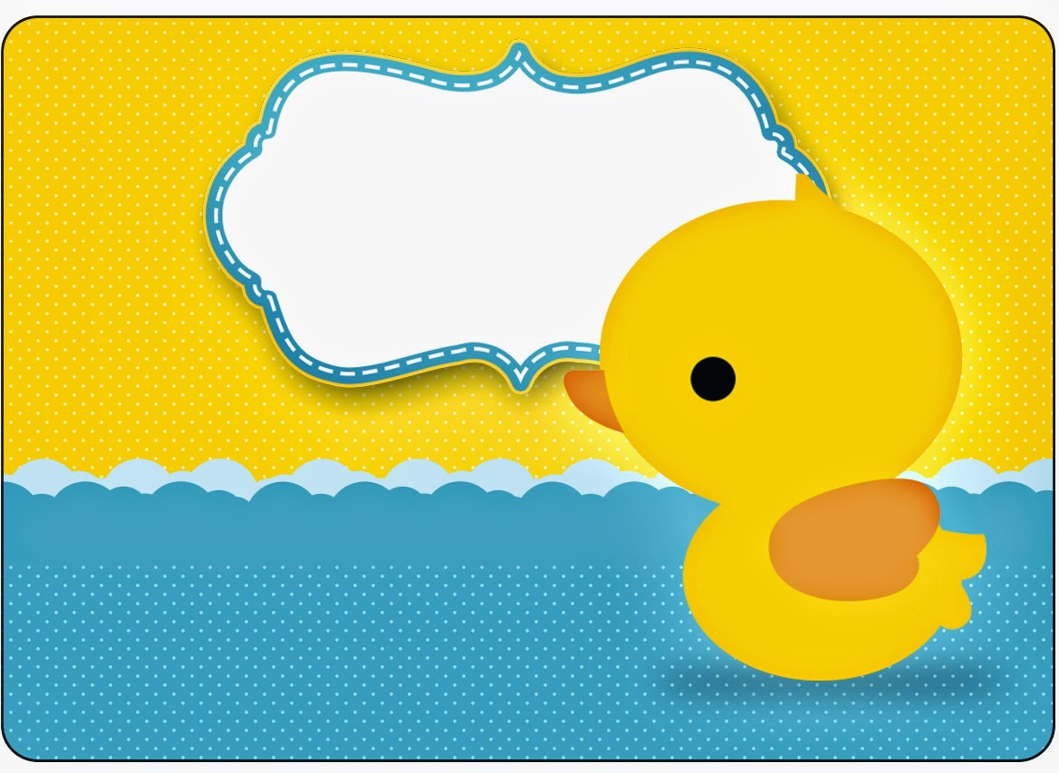 Rubber Ducky Free Printable Candy Bar Labels