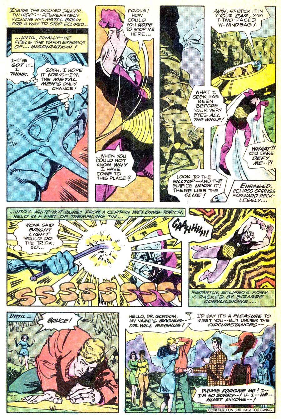 Metal Men v1 #48 dc bronze age comic book page art by Walt Simonson