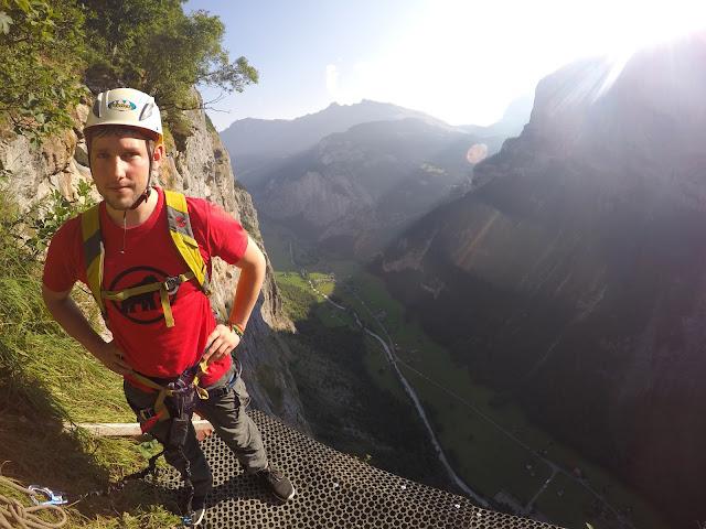 Klettersteig Switzerland : Klettersteig daubenhorn swiss flag
