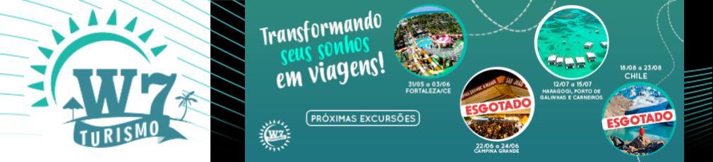 """W7 - Turismo """" Transformando seus sonhos em viagens!"""""""