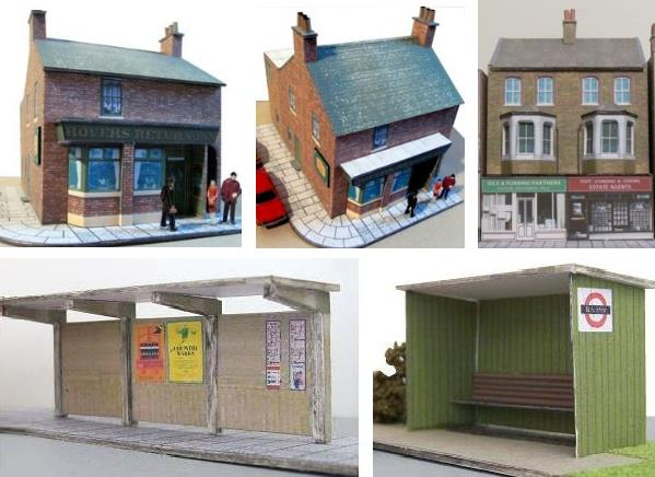 PAPERMAU: British Architectural Paper Models In HO Scale