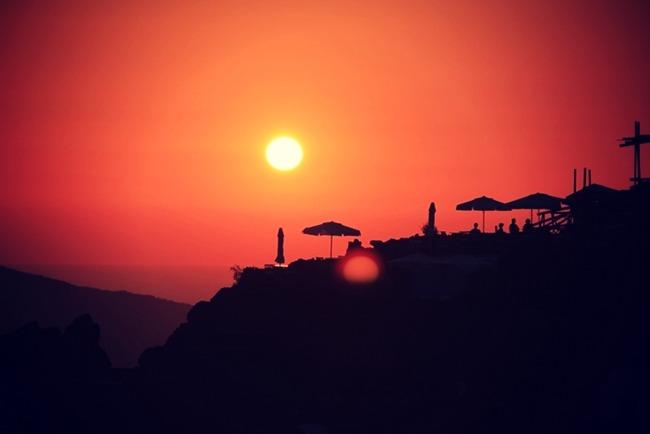 Santorini zalazak sunca