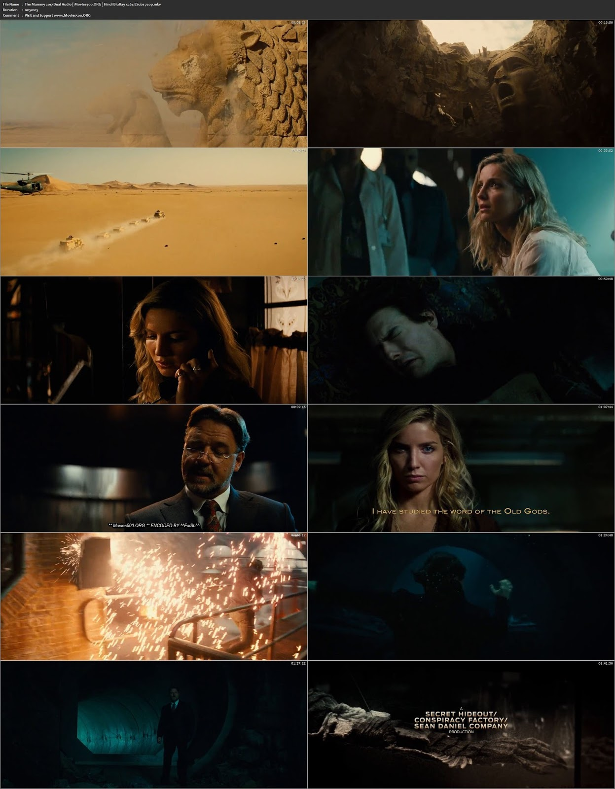 The Mummy 2017 Hindi Full Dubbed 350MB BluRay 480p at movies500.site