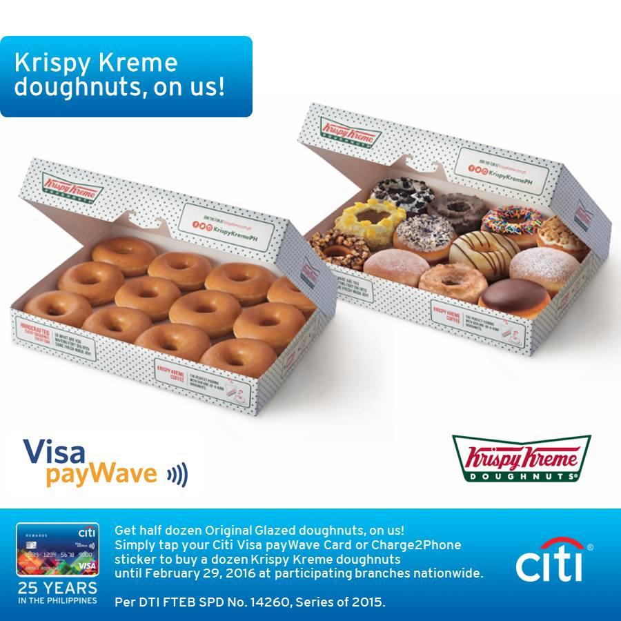 Manila Shopper: Krispy Kreme x Citi Visa payWave Promo: Dec 2015-Feb ...
