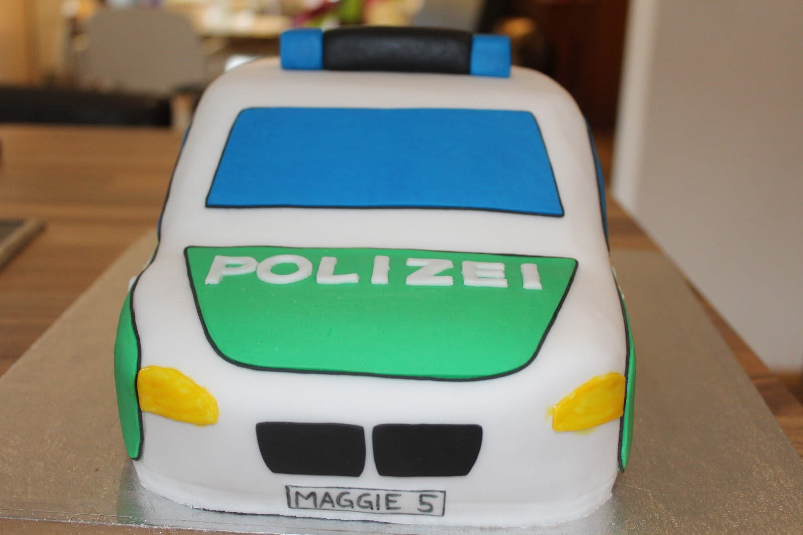 Polizei Kuchen Theresas Backstube Polizeiauto