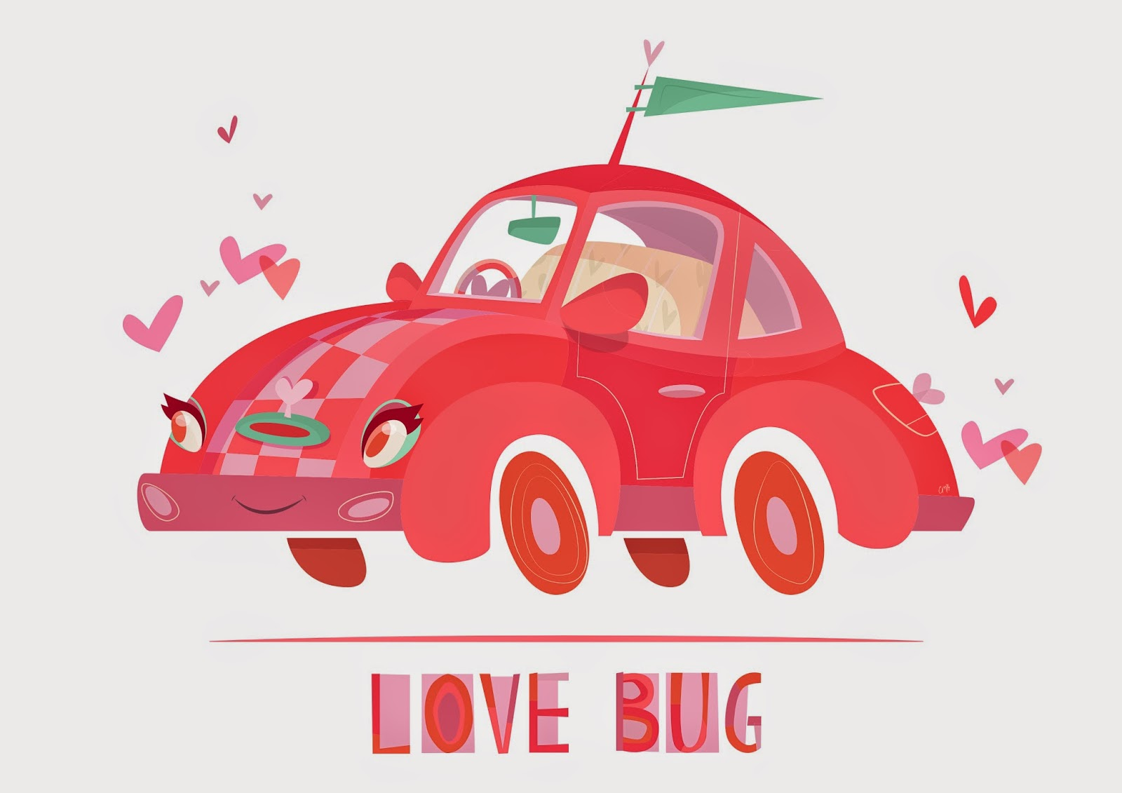 Character Design, Car, Cute, Retro, Vintage, Illustration, Animation