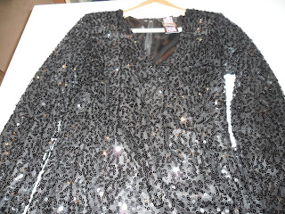 Black Sequin mini dress by Rare