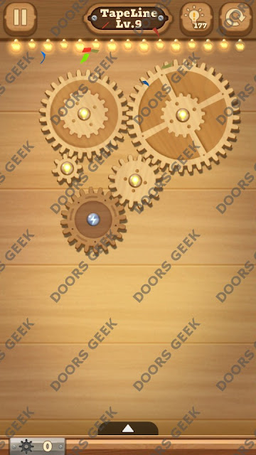 Fix it: Gear Puzzle [TapeLine] Level 9 Solution, Cheats, Walkthrough for Android, iPhone, iPad and iPod