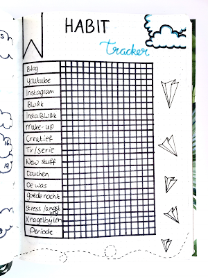Bullet Journal Maart habit tracker