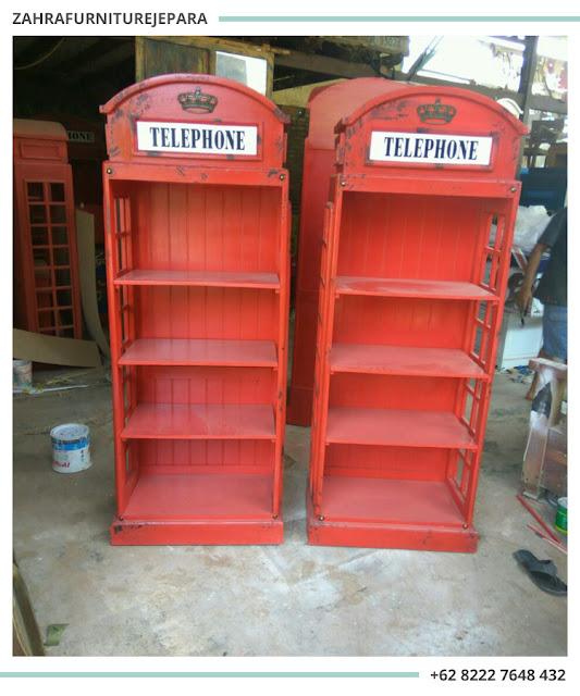 LEMARI BUKU BOX TELEPHONE LONDON INGGRIS