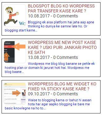 Random post widget with thumbnail style 2