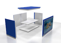 Meja Display Makanan Knockdown - Furniture Knockdown Semarang