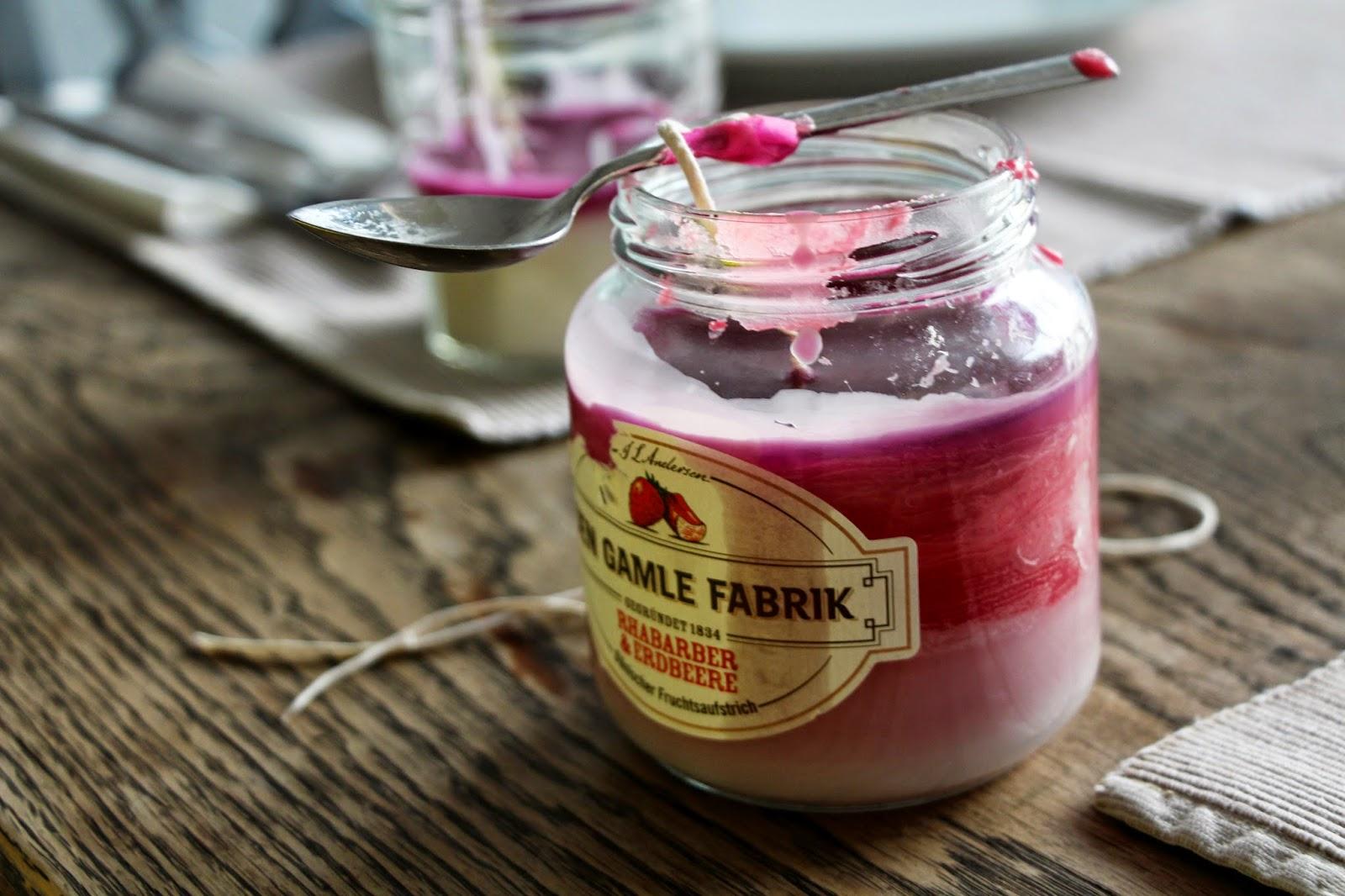 diy jar candle in ombre look